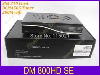 Satellite tv  Receiver Dm800 hd se with wifi /sunray 800se hd DVB BOX Enigma2 RevD6 BCM4505 TV Decoder tuner Free fast shiping