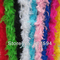 "Free shipping 12Pcs/lot  200cm(79"")/pcs  turkey Feathers Strip Wedding Marabou Feather Boa 10 Color selected k27"