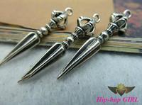 20pcs/lot Zinc Alloy Vintage Silver Crown Pendulum Fashion Jewelry Pendant DIY Ornament Accessories 23*57MM HG3724-1