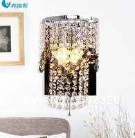 Saving Energy Free Shipping High Quality Stainless Steel Led Crystal  Wall Lights  Home Lighting Wall Lamps For Hotel