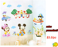 Free Shipping!Promotion Mickey Mouse wall stickers,Lovely cartoon children wall sticker,Vinyl Art Mural for kids rooms HL967