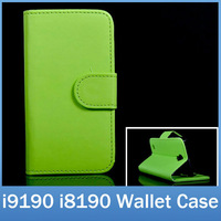 PU Leather Flip Wallet Cover With ID Card Holder Stand Holster Case For Samsung Galaxy S4 Mini i9190 S3 Mini i8190 FREE SHIPPING