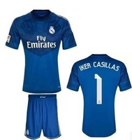 Can customed any name&number!real  Madrid navy blue color soccer jerseys 14-15 real madrid Madrid Football Shirt &short