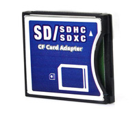 Free shipping NEW SDHC SD MMC SDHC to Compact Flash CF Type II Card Reader Adapter CF Card reader