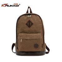 KAUKKO FJ21 Vintage casual trend fashion men backpack women school bag 100% cotton canvas travel bag retail and wholesale