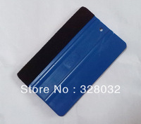 Car vinyl Film wrapping tools Blue Scraper squeegee with felt edge size 12.5*7.8cm 500pcs DHL free shipping