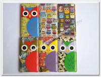 20pcs/lot Cute Brazil Graffiti Birds OWL Cover Cases For LG Optimus P760 L9 Freeshipping