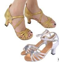 New Arrival Latin Dance Shoes Women's Ballroom Shoes 4cm Heels Satin U S Size 5.5-8 Free Shipping
