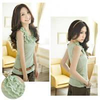 Summer Dress 2014 New Women's Top Sleeveless T-shirt  Women's Brand TANKS Top Free Shipping Promotion