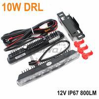 Best Selling free shipping  10W LED Daytime Running Light   IP67  LED DRL Fog car light  car lighting