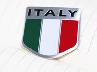 Italy flag Emblems Badge Motor Sport Racing Sticker Rear For Alfa romeo fiat lamborghini  High Quality Wholesale