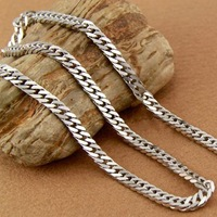 "FTC006  Fashion Men's Necklace 316L Stainless Steel Chain Necklace For Men Never Fade 4mm 20"" Free Shipping"
