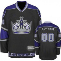 Custom Hockey L A K Jerseys White Authentic personalized - Cheap China Wholesale ICE Jersey Number & Nane Sewn On (XS-6XL)