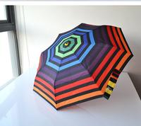 TDXU-00015,Italy Design,Benetton Automatic Umbrella,Anti-UV, 3-Fold,8K,2013 Colorful Belt Series,Italy Order Stock.