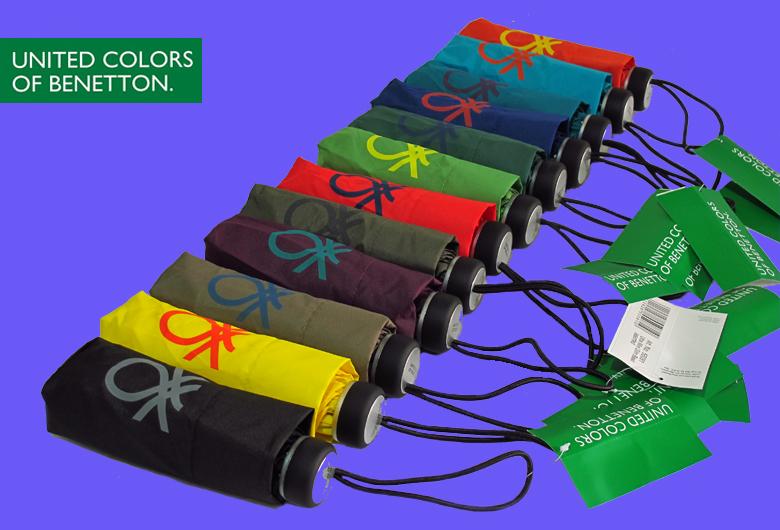 TDXU-00017, Italy Design,Classic Benetton Umbrellas,5-Fold, 6K, Manual,12 Colors Assortment,Super Light, Anti-UV,(China (Mainland))
