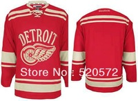 Custom Hockey 2013 Detroit RedWings Jerseys Authentic personalized - Cheap China ICE Jersey with Number & Nane Sewn On (XS-5XL)