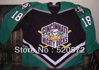 #18 Mikael Holmqvist Cincinnati Mighty Ducks Jerseys personalized - Cheap ICE Hockey Jersey With Number & Nane Sewn On (XS-6XL)