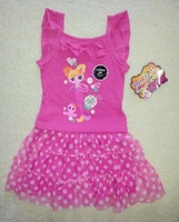 Free shipping LALALOOPSY Lala Oopsies girl girls kids t shirt top + tutu skirt + shorts pants outfit clothing set suits