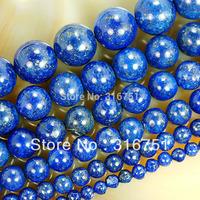 """Hot Sale 15.5"""" Natural Lapis Lazuli Beads 4 6 8 10 12 14mm Pick Size Free Shipping Aa"""
