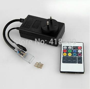 AC110-220V 5050 RGB color LED Plug Remote for RGB Led strip