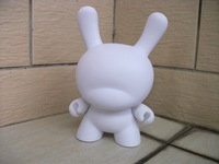 Kidrobot dunny doll  white mold hand-done DIY painting 8inch tall