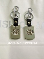 for hyundai logo keychain/key ring made by stainless steel alloy polish silver color double side logo good quality