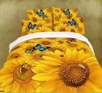 Western style 3d oil printing 4pc bedding set king queen size Duvet/quilt/comforter cover bedsheet bed Linen sets 100% Cotton(H)