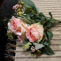 For 2 pcs Bountyless rose artificial flowers  silk flowers home decoration flowers wedding decoration flores artificiales