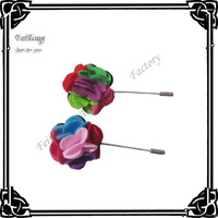 1.5'' Felt flowers with brooch pins 50pcs/lot  Free shipping