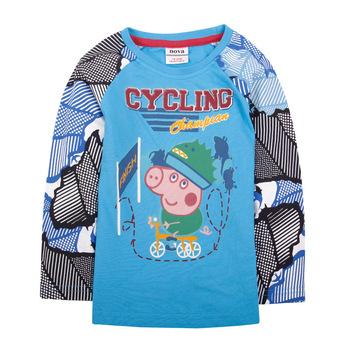 Kids Peppa Pig T shirt 2013 Children Printing Long Sleeve T shirt Baby map Design Tees Children t shirt Retail!Free Shipping