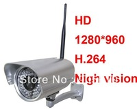1pcs Foscam Wireless WiFi IP Camera HD 1280x960 1.3M pixel H.264 audio FI9805W for HK post air mail free shipping
