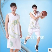 Free Shipping 2013 100 polyester brand breathable jerseys basketball clothes set training suit for men