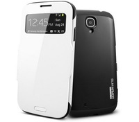 High Quality SGP Slim Armor View Automatic Sleep/Wake Flip leather case for Samsung galaxy s4,Dropship 1pcs Freeshipping