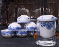 Bone China porcelain Tea set and car travel Heat preservation tea bottle set portable kung fu tea Combination SUIT cups