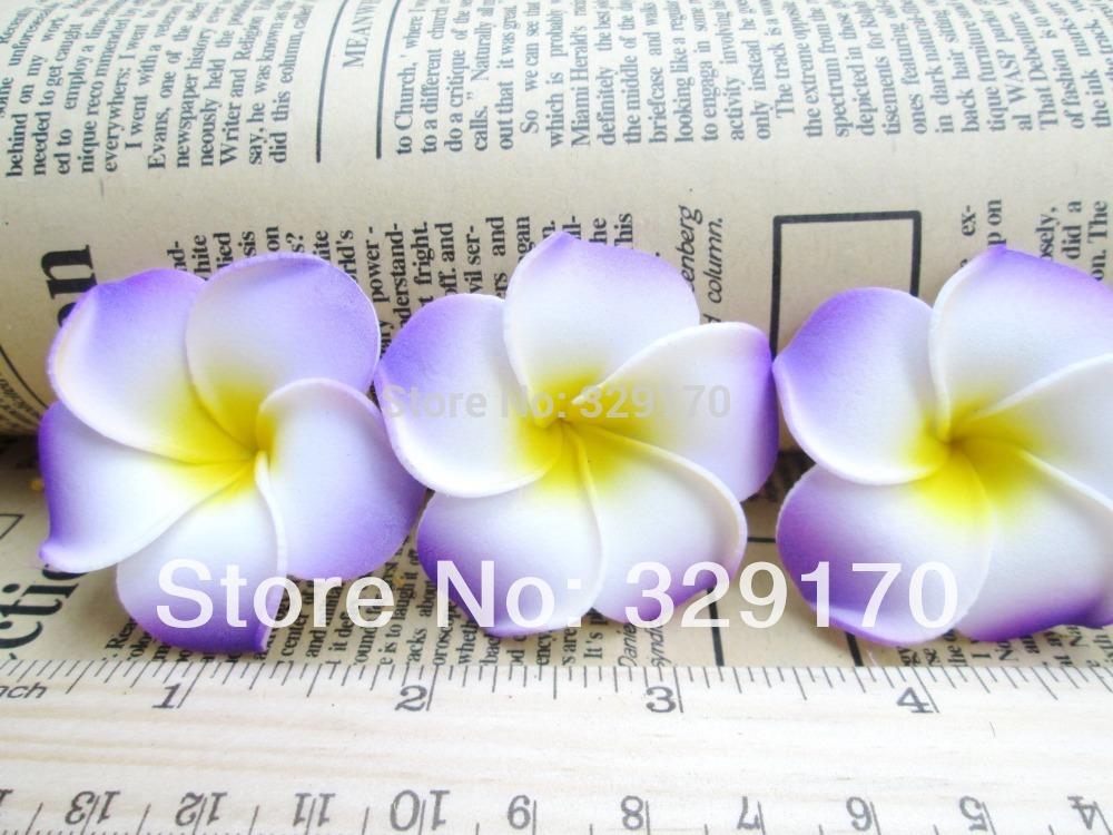 6 purple Foam Floating Frangipani/Plumeria