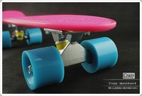 "Free shipping 2012 best quality 22"" penny  skateboard style ,skate board pink and blue"
