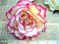 "2X pink rose Artificial Silk Flower Heads Craft Wedding 4""/10cm sf148"