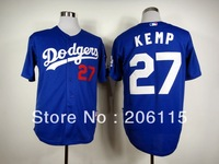 Wholesale LA Dodgers Authentic 27 Matt Kemp Double Stitched Baseball Jersey Embroidery On-Field Cool Base Jersey