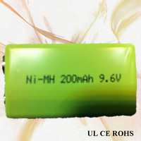 rechargeable 200mah 9V battery 23PCS/SET