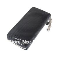 2013 japanned leather long zipper women's wallet Lady's Fashion Long Wallet