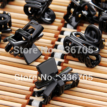 Free Shipping Wholesale 100Pcs/Lot Fashion Mixed Shape Small Plastic Black Hair Claws,Fashion Hair Clips