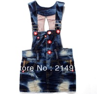 Free shipping,Baby Girls Cartoon Minnie mouse denim overalls Cute dress kids fashion summer overalls dresses,5pcs/lot
