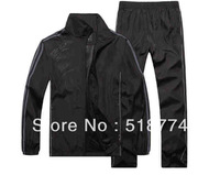 Hot sale NEW BRAND AD(LOG0)  men Sport suit /  sportswear jackets+Pants casual sportswear two piece set Free Shipping