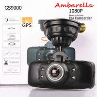 Car DVR camera Recorder GS9000 original Ambarella CPU + FHD1080P + GPS + G-Sensor + HDMI + 178 degree wide Angle Car black box