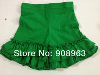 2014 wholesale baby girls double ruffle cotton shorts, 1lot=50pcs