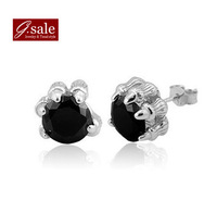 GS barand ED-47 earings fashion 2014 free shipping dragon claw  unisex & 925 stamp sterling silver stud earrings jewelry