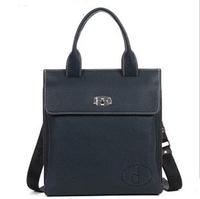 Original Vintage genuine leather bag mens shorts briefcase bag old man bag business bag 8001-3 blue