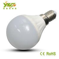 New arrived 3W ceramic  led lamp e14 AC 110v 220v warranty 3 years forliving room warm white & cool white wholesale