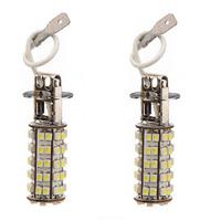 2x   H3 68 SMD LED Car Auto Fog Head Parking Signal Headlight Light Lamp Bulb 12V