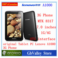 *hot sellingl* Lenovo A1000 original phone MTK8317 DualCore 7 inch TFT 1GBRAM 4GBROM Android 4.1Tablet PC 3G Phone drop shipping